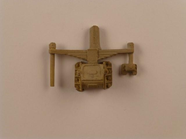 Tender-Achslager, preuß., mit Gleitplatten und Blattfeder,  mit Aufhängung rechts, Stichmaß 29mm