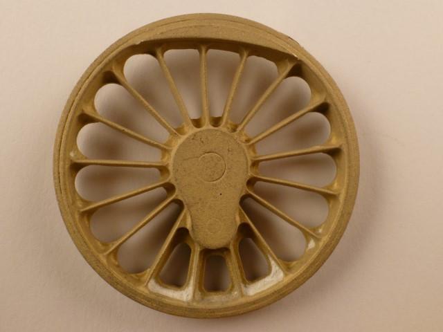 Kuppelrad, für 1750er Rad, 17 Speichen,  für Kurbelradius 10,5 +/- 0,5mm, mit Fischhäutchen, passend zu 1.0546