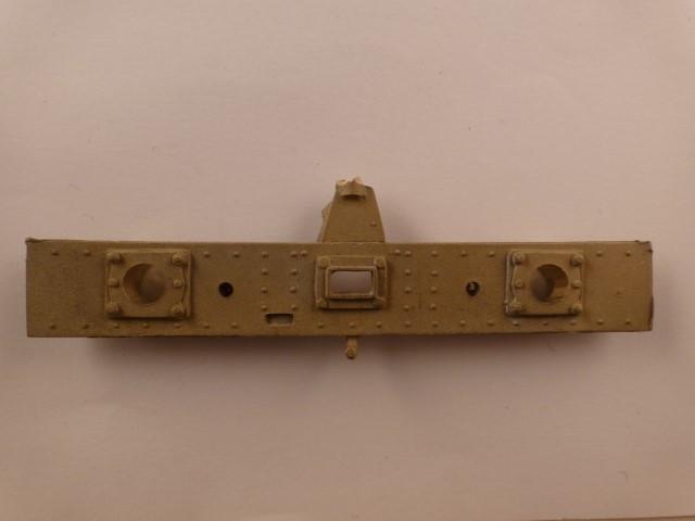 Pufferbohle, Vorder- und Rückseite genietet, 13 x 86mm