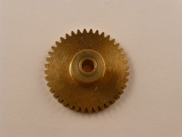 Zahnrad, Messing, Modul 0,5, 40 Zähne,  Innendurchmesser 3mm, Aussendurchmesser 21mm,  Breite 6mm