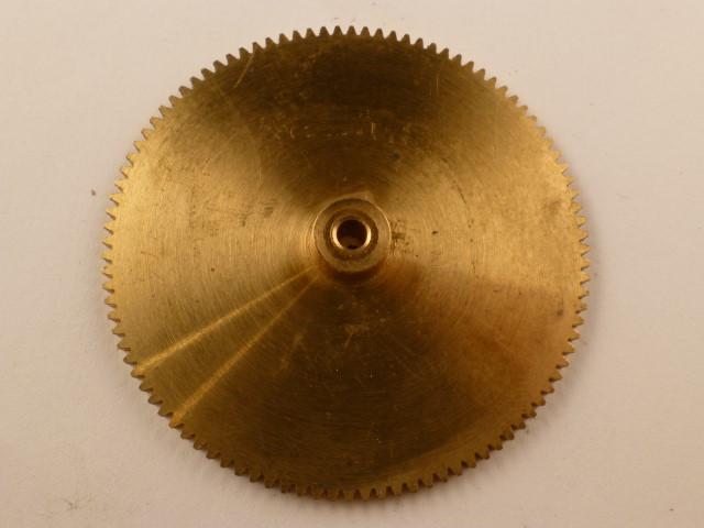 Zahnrad, Messing, Modul 0,5, 100 Zähne,  Innendurchmesser 3mm, Aussendurchmesser 51mm,  Breite 6mm