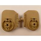 Zylinderwand, Triebwerkseite, für Einheitslok (BR 50/41 etc.),  paar rechts/links, Höhe x Breite 40 x 31,5mm