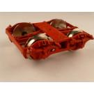 Drehgestell Einheitsbauart, für Wannentender,  Einbaufertig, rot