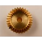 Kegelrad, Messing, Modul 0,75, 30 Zähne,  Innen Durchmesser 5mm, Außendurchmesser 24,5mm,  9mm Breit, passend zu 5.0125